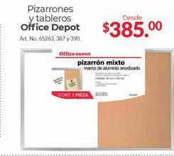 Oferta de Pizarron y tableros Office Depot por $385