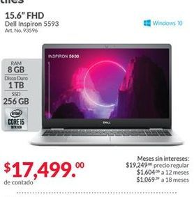 Oferta de Laptop Dell por $17499