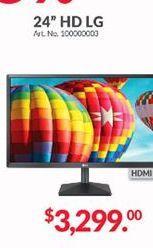 Oferta de Monitor led 24'' LG por $3299
