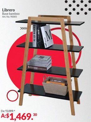Oferta de Librero base Bamboo por $1469.3