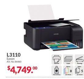Oferta de Impresoras Epson por $4749
