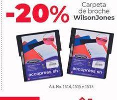 Oferta de Carpetas Wilson por