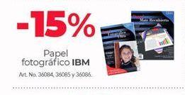 Oferta de Papel fotográfico IBM por