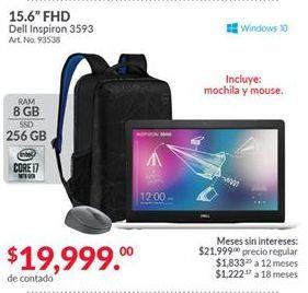 Oferta de Laptop Dell Inspiron 3593 por $19999