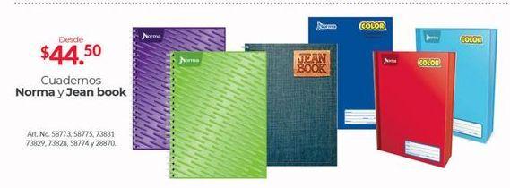 Oferta de Cuadernos Norma Y Jean Book por $44.5