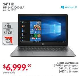 Oferta de Laptop HP por $6999