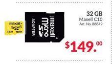 Oferta de Memoria externa Maxell por $149