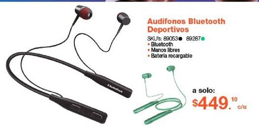 Oferta de Audifonos bluetooth por $449.1