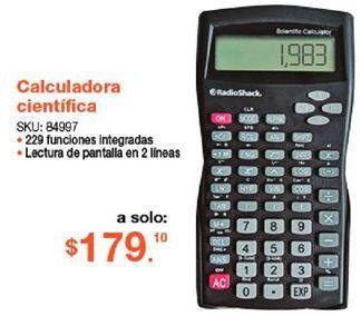 Oferta de Calculadora Radioshack por $179.1