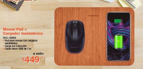 Oferta de Mouse pad + cargador por $449.1