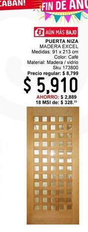 Oferta de Puerta Niza Excel por $5910