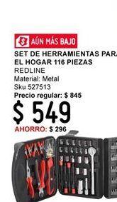 Oferta de Herramientas Para El Hogar 116 Piezas Redline por $549