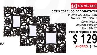 Oferta de Set 3 Espejos Decorativos Home Collection por $129