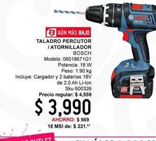 Oferta de Taladro percutor Bosch por $3990
