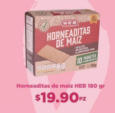 Oferta de Horneaditas de maiz HEB por $19.9