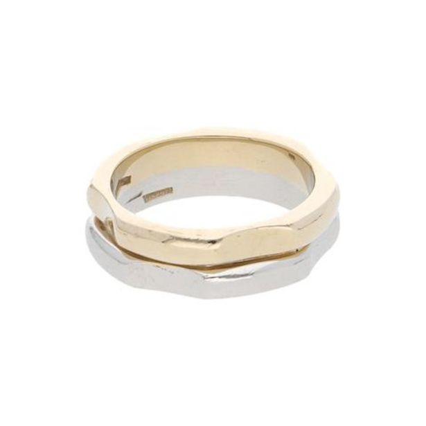 Oferta de Argolla hechura especial en oro dos tonos 14 kilates. por $7187