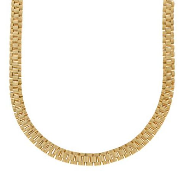 Oferta de Gargantilla eslabón articulado en oro amarillo 14 kilates. por $68703