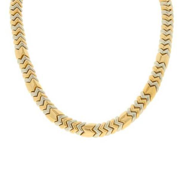 Oferta de Gargantilla eslabón articulado firma Bvlgari en oro dos tonos 18 kilates. por $211807
