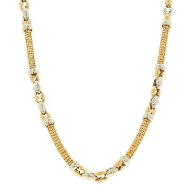 Oferta de Gargantilla eslabón combinado en oro dos tonos 14 kilates. por $39456