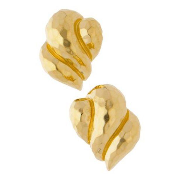 Oferta de Aretes hechura especial facetados en oro amarillo 18 kilates. por $22058