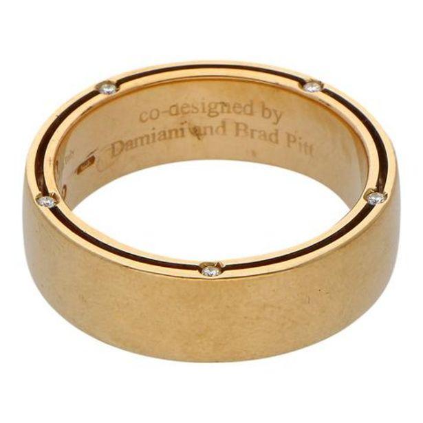 Oferta de Argolla hechura especial con diamantes en oro amarillo 18 kilates. por $29496