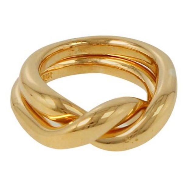Oferta de Alianza dos piezas firma Tane en oro amarillo por $35036