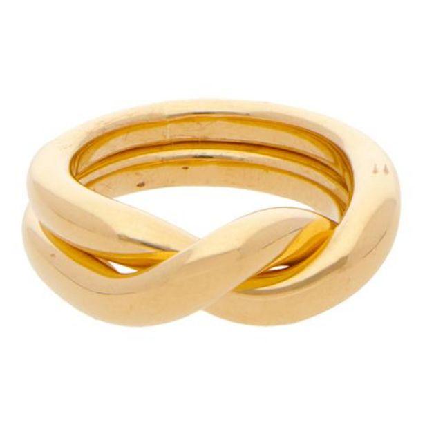 Oferta de Alianza dos piezas unidas lisas firma Tane en oro amarillo 18 kilates. por $37469