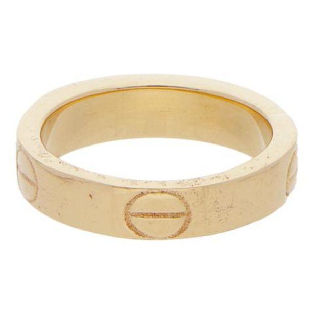 Oferta de Argolla hechura especial motivo tornillos en oro amarillo. por $5935