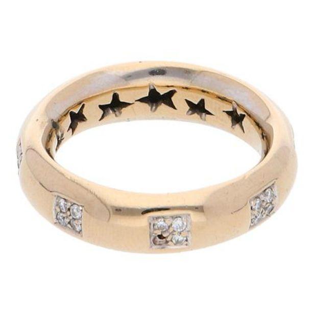 Oferta de Anillo hechura especial con diamantes en oro amarillo 18 kilates. por $14161
