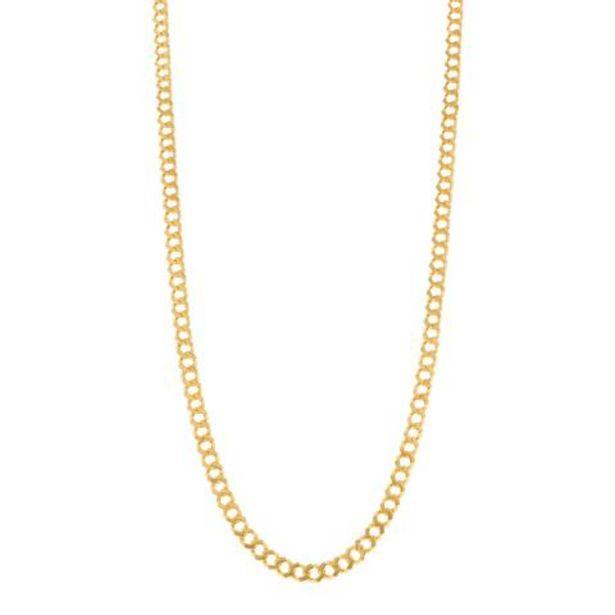 Oferta de Collar eslabón encontrado en oro amarillo 22 kilates. por $58259