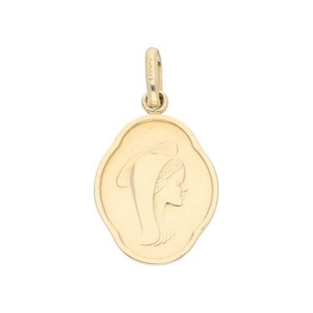 Oferta de Dije hechura especial motivo madona en oro amarillo 14 kilates. por $3594