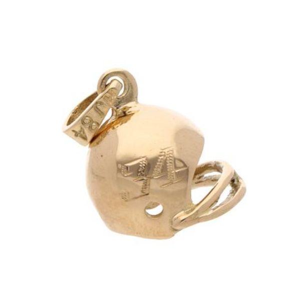 Oferta de Dije estilizado motivo casco en oro amarillo 14 kilates. por $6366