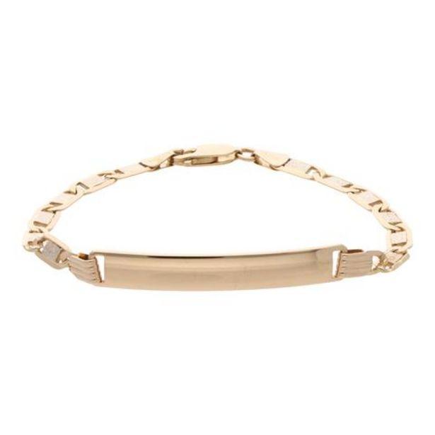 Oferta de Esclava eslabón nudo marino diamantado en oro amarillo 14 kilates. por $9343