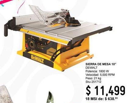 Oferta de Sierra de mesa Dewalt por $11499