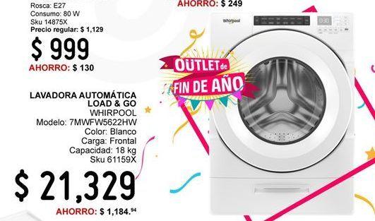Oferta de Lavadoras Whirlpool por $21329