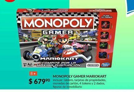 Oferta de MONOPOLY GAMER MARIOKART por $679.9