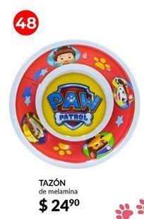 Oferta de Tazón Paw Patrol por $24.9
