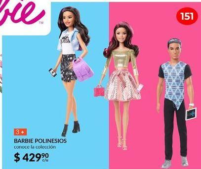 Oferta de Muñecas Barbie polinesios por $429.9