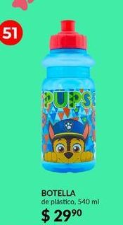 Oferta de Botella de agua Paw Patrol por $29.9