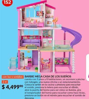 Oferta de Mega casa de los sueños Barbie por $4499.9