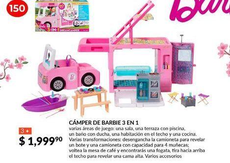 Oferta de  camper de barbie 3 en 1 por $1999.9