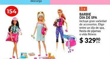 Oferta de Barbie dia de spa por $329.9