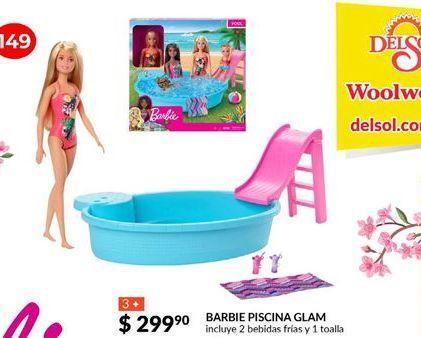 Oferta de Muñecas Barbie piscina glam por $299.9