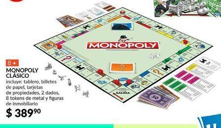 Oferta de Monopoly Clásico Hasbro Gaming por $389.9