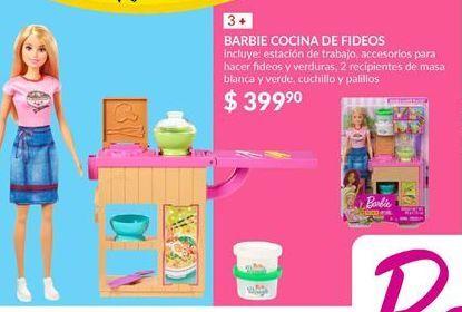 Oferta de Muñecas Barbie cocina de fideos por $399.9
