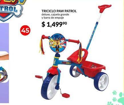 Oferta de Triciclo Paw Patrol por $1499.9