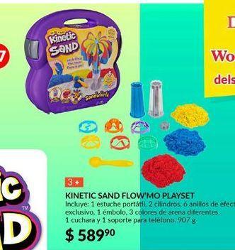 Oferta de Kinetic sand flow`mo playset por $589.9