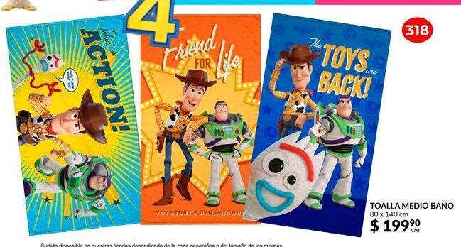 Oferta de Toallas Toy Story por $199.9