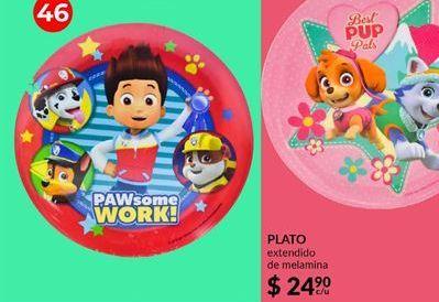 Oferta de Platos Paw Patrol por $24.9