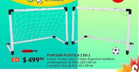 Oferta de Porteria plastica 2 en 1 Fun & Sun por $499.9